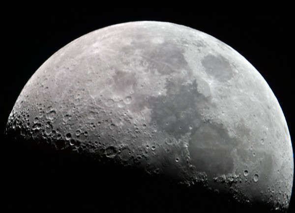 Mosaic of the moon comprising of 6 images