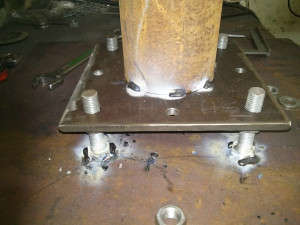 Base plate welding for the pier