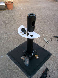 Finished pier ready to receive the HEQ5 PRO mount head